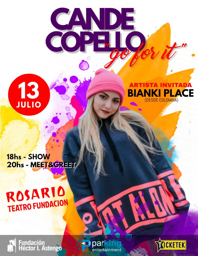 """Go for it"" Cande Copello; Bianki Place"